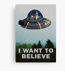 Rick and Morty X Files Canvas Print