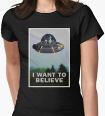 Rick and Morty X Files Womens Fitted T-Shirt