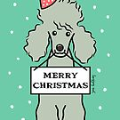 Merry Christmas Poodle  by Zoe Lathey