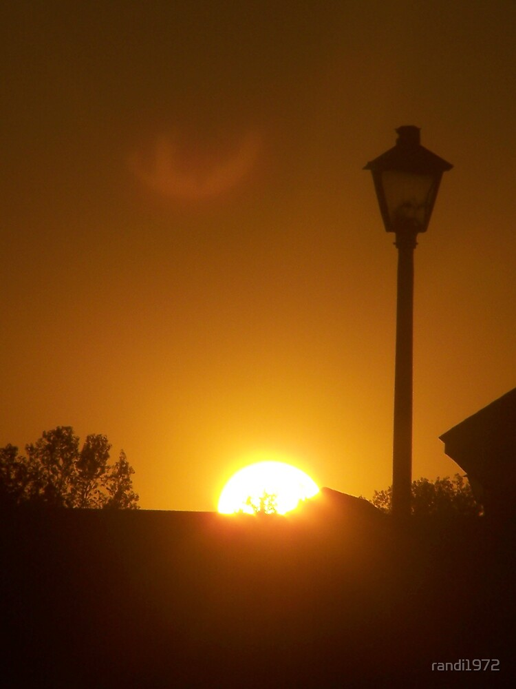 sunset and a lamp post by randi1972