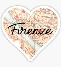 Florence Heart Sticker