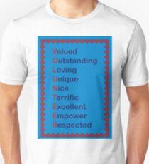 Volunteer Appreciation Thanks Hearts Red Blue Unisex T-Shirt