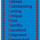 Volunteer Appreciation Thanks Hearts Red Blue by ValeriesGallery
