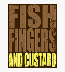 Fish Fingers and Custard Photographic Print