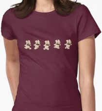 Ferret Face runny  Women's Fitted T-Shirt