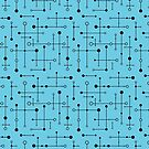 MCM Lines & Dots - Teal by ambientwares