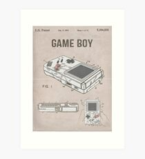 Gameboy Patent Art Print