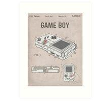 Gameboy Patent Art Print