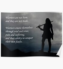 Warrior - Women's Motivation Poster