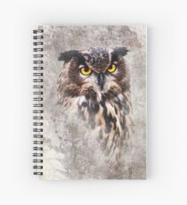 Watercolor Owl Spiral Notebook