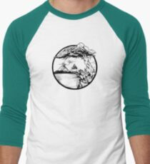 Meditation Zen Red Men's Baseball ¾ T-Shirt