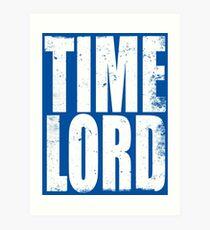 Time Lord Art Print