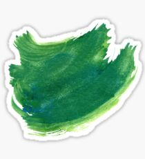 Green Painted Paper Sticker