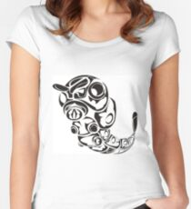 Caterpie Black Women's Fitted Scoop T-Shirt