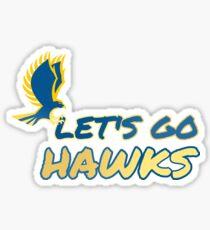 Let's Go Hawks Sticker