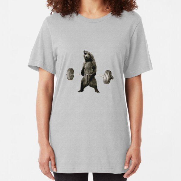 Bear Gains Slim Fit T-Shirt