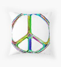Radical Peace by IdeaJones Throw Pillow