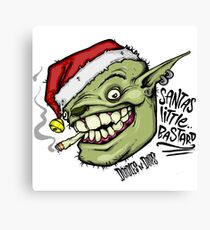 """Santas Little Bastard"" Canvas Print"