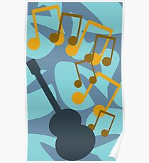 Guitar Music Abstract Poster