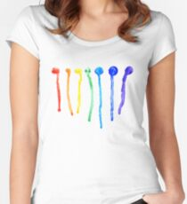 Rainbow Splatters 2 Women's Fitted Scoop T-Shirt