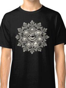 Anahata Seven Chakra Flower Mandala Classic T-Shirt