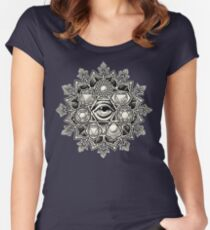 Anahata Seven Chakra Flower Mandala Women's Fitted Scoop T-Shirt
