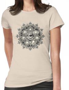 Anahata Seven Chakra Flower Mandala Womens Fitted T-Shirt