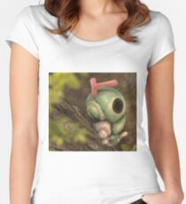 Caterpie on a tree Women's Fitted Scoop T-Shirt