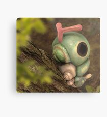 Caterpie on a tree Metal Print