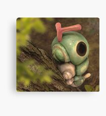Caterpie on a tree Canvas Print