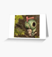 Caterpie on a tree Greeting Card