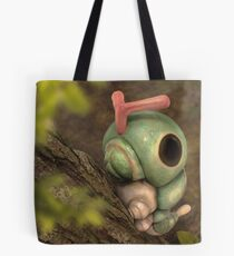 Caterpie on a tree Tote Bag