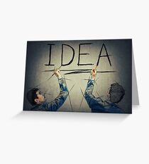 idea concept Greeting Card