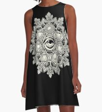 Anahata Seven Chakra Flower Mandala A-Line Dress