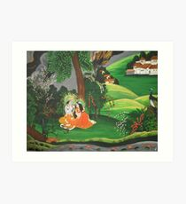 Radha Krishna Art Print Part 81