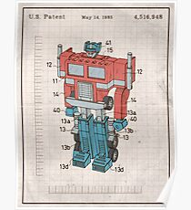 Optimus Prime Transformers Patent  Poster