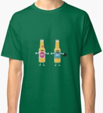 Wedding Beerbottle couple Rn4bx Classic T-Shirt