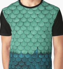 SHELTER / green and petrol Graphic T-Shirt