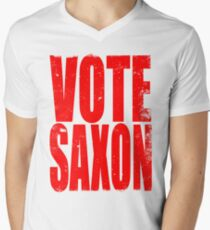 Vote Saxon Men's V-Neck T-Shirt