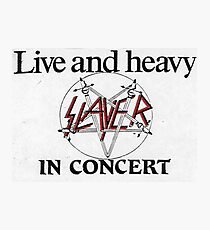 Live and Heavy Photographic Print