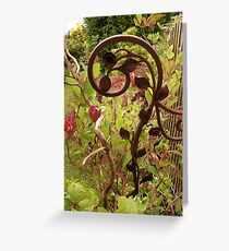 Wrought Iron Beauty Greeting Card
