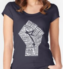 March For Science Fist Women's Fitted Scoop T-Shirt
