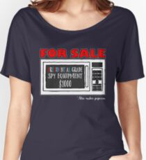 Microwave Spy Equipment Design Women's Relaxed Fit T-Shirt