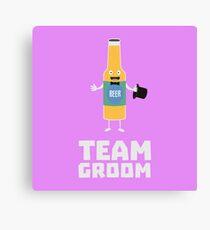 Team Groom Beerbottle Ru77s Canvas Print