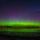 Aurora with satellite, 7 October 2015 from Tasmania by Odille Esmonde-Morgan