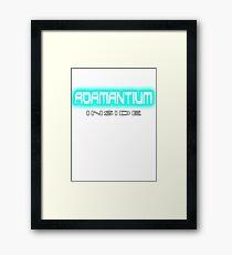 Adamantium, it makes Logan, Wolverine so strong Xmen (Marvel comics) Framed Print