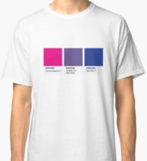 Camiseta clásica LGBT COLOR PANTONE PALLETE BISEXUAL COMMUNITY DESIGN