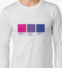 LGBT COLOR PANTONE PALLETE BISEXUAL COMMUNITY DESIGN Long Sleeve T-Shirt