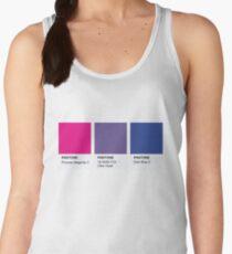 LGBT COLOR PANTONE PALLETE BISEXUAL COMMUNITY DESIGN Women's Tank Top