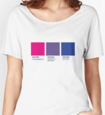 LGBT COLOR PANTONE PALLETE BISEXUAL COMMUNITY DESIGN Women's Relaxed Fit T-Shirt